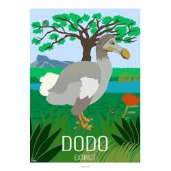 DODO - Wild Animal - Educational Board - Poster Retro Vintage - Art Gallery - Deco