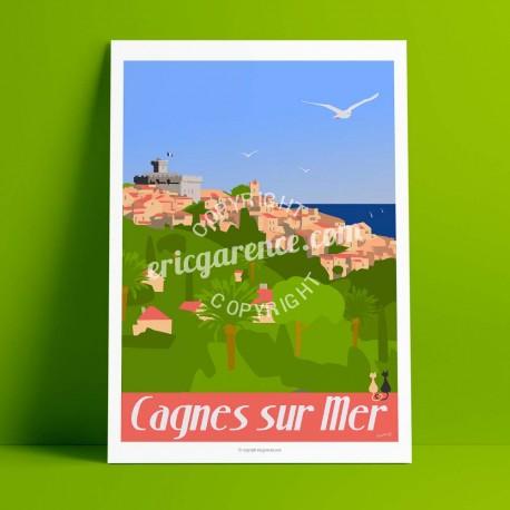 Cagnes - Le Petit Montmartre, 2017  - Affiche Rétro Ancienne - Art Galerie - couleurs   Bonjour l'affiche, France, Provence,  ac