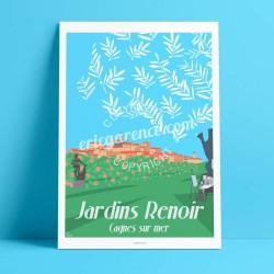 Cagnes sur Mer, Jardin Renoir  - Affiche Rétro Ancienne - Art Galerie - couleurs   Bonjour l'affiche, France, Provence,  achat,