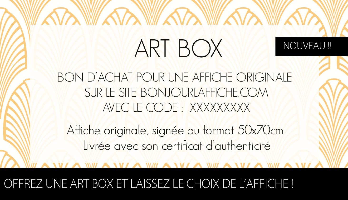 ArtBox - Offrez une artbox et laissez le choix de l'affiche !