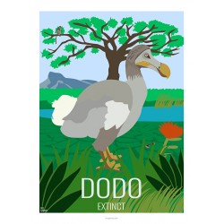 DODO - Wild Animal - Educational Board - Poster Retro Vintage - Art Gallery - Deco