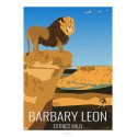 BARBARY LEON - Wildlife - Educational Board