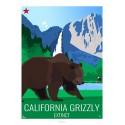 GRIZZLY DE CALIFORNIE - Animaux Sauvages - Planche Pédagogique