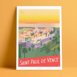 Saint Paul de Vence, original artwork 2017