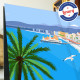 Affiche Casino Baie des Anges à Nice par Eric Garence, Côte d'Azur France tableau décoration idée cadeau luxe collection casino