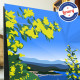 Poster La Route du Mimosa by Eric Garence, French Riviera travel memories holydays Pinup jet set Flower Mimosalia fat bormes man