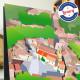 Affiche Grans par Eric Garence, Provence Sud Bouches du Rhône tableau décoration idée cadeau luxe collection blé village cité pr