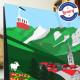 Affiche La Clusaz en été par Eric Garence, Alpes Haute Savoie France tableau décoration idée cadeau luxe collection Eté montagne