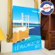 Affiche Le Plongeoir à Nice par Eric Garence, Côte d'Azur France affichiste savignac roger broders publicité pub la réserve la p