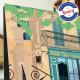 Affiche Tourtour par Eric Garence, Provence Sud Gorges du Verdon rétro vintage illustration dessin niçois ormeau bar fontaine le