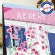 Affiche L'Île de Ré et son vélo par Eric Garence, Charente Maritime, côte atlantique France tableau décoration idée cadeau luxe