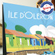 Poster Les cabanes de l'île d'Oléron by Eric Garence, Charente Maritime, Atlantic Coast France painter savignac roger broders ad