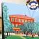Poster Les jardins des arènes de cimiez à Niceby Eric Garence, French Riviera painting decoration gift luxury idea jazz festival