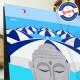 Affiche Le Cigalon plage à Cagnes par Eric Garence, Côte d'Azur France tableau décoration idée cadeau luxe collection Renoir Col