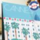 Affiche Cannes Palaces par Eric Garence, Côte d'Azur France rétro vintage illustration dessin niçois Carlton Martinez Grand Hote