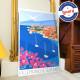 Affiche Villefranche-sur-mer par Eric Garence, Côte d'Azur France affichiste savignac roger broders publicité pub cocteau villag