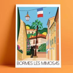 La Rue Carnot à Bormes les Mimosas, 2019