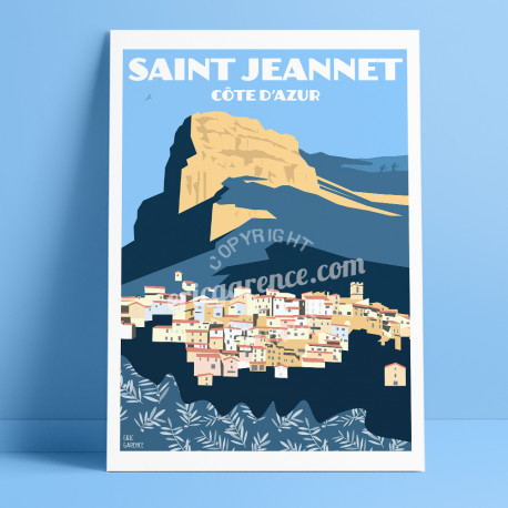 Affiche Saint Jeannet Eric Garence Cadeau Gift Poster Tableau France Galerie Baou Gaude Gattieres