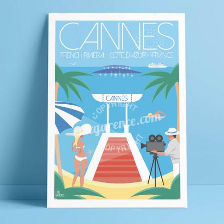 Cannes, Côte d'Azur, croisette, festival film, pin up, iles de vérins, baie, France