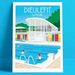 Dieulefit, the Art-Deco Pool, 2019