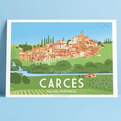 Les 7 merveilles de Carcès, 2019, Garence, Affiche, Provence, Bonjour l'affiche