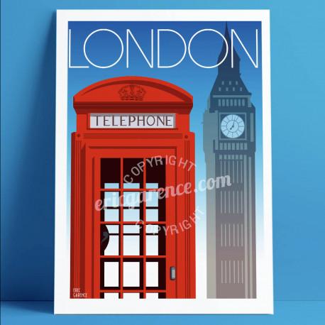 Londres, le Téléphone Rouge, 2019 pierre