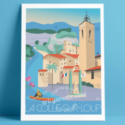 Poster La Colle sur Loup French Riviera Poster Eric Garence