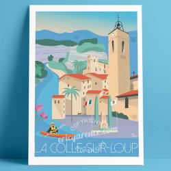 Affiche La colle sur loup Cote d'azur Poster Eric Garence
