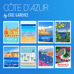 Côte d'Azur, La Collection de cartes postales