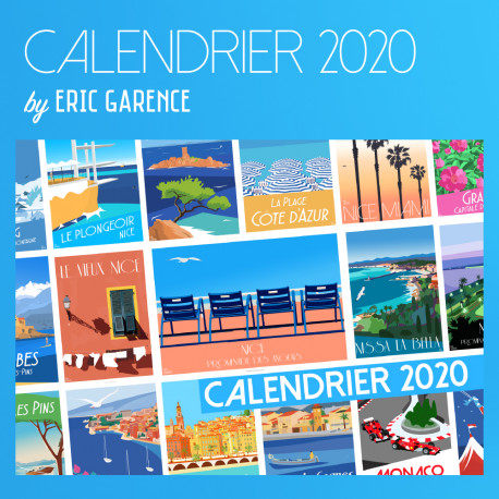 2020 French Riviera Calendar by Eric Garence