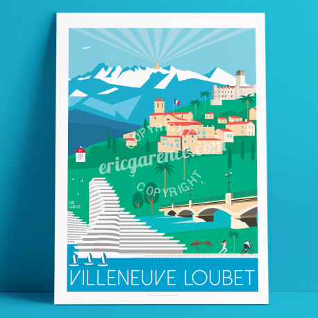 Poster Biot French Riviera Poster Eric Garence