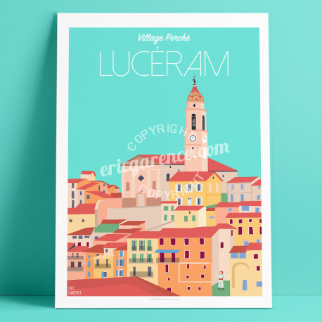 Poster Lucéram Mercantour French Riviera Poster Eric Garence