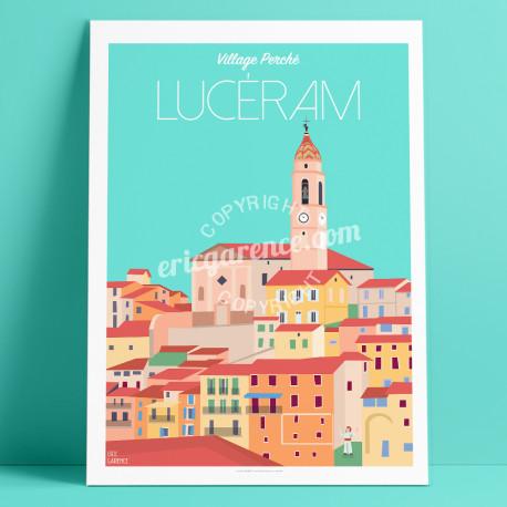 Affiche Lucéram Mercantour Cote d'azur Poster Eric Garence