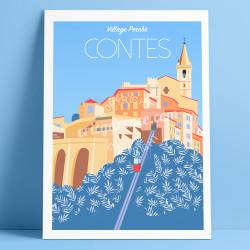Affiche Contes Mercantour Cote d'azur Poster Eric Garence