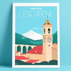 Affiche L'Escarène Mercantour Cote d'azur Poster Eric Garence