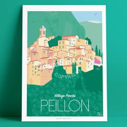 Affiche Peillon Mercantour Cote d'azur Poster Eric Garence