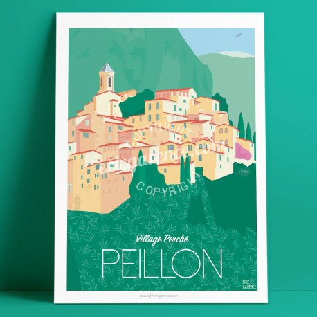 Poster Peillon Mercantour French Riviera Poster Eric Garence