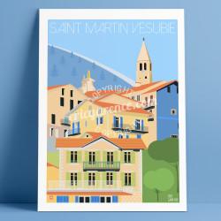 Affiche Saint Martin Vésubie Mercantour Cote d'azur Poster Eric Garence
