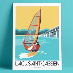 Poster Lac de Saint Cassien, Montauroux Windsurf Mercantour French Riviera Poster Eric Garence