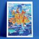 Côte d'Azur Island, Eric Garence, Phoenix, artiste niçois, art, mamac, affiches, signé, papier d'art