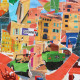 Côte d'Azur, Eric Garence, Phoenix, artiste niçois, art, mamac, affiches, signé, papier d'art