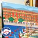 Affiche Le Port de Nice et Lou Passagin par Eric Garence, Côte d'Azur France rétro vintage painting artiste niçois