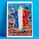 Tour de France Nice, Eric Garence, Phoenix, artiste niçois, art, mamac, affiches, signé, papier d'art