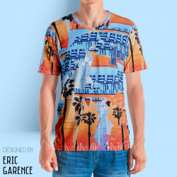 "T-shirt ""Nice Miami"" by Eric Garencen-, artiste, nicois, design, art, phoenix, nice, artwork"