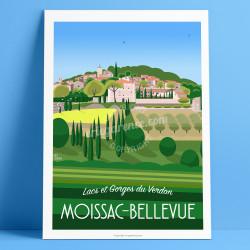 Affiche, Jazz Moissac-Bellevue, Var, Gorges du Verdon, Provence, Eric Garence, illustration, poster, vintage, retro, VisitVar