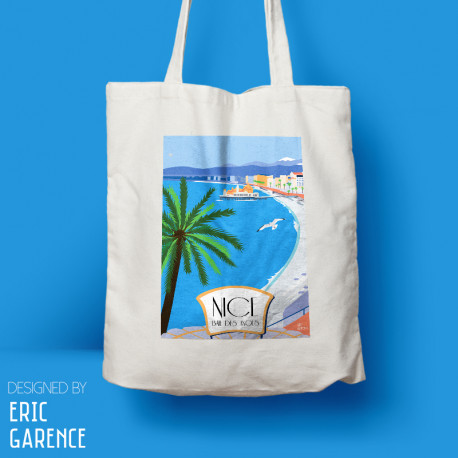"""Tote Bag """"Nice - Baie des Anges"""", french riviera, artwork, gift xmas, christmas"""