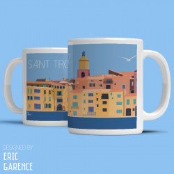 "Tote Bag ""La Ponche and BB at Saint Tropez"" , french riviera, artwork, gift xmas, mehari, citroen, de funes, mehari, c"