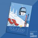 """Magnet, """"Isola 2000, Ski Resort in Mercantour"""""""