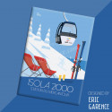 """Magnet, """"Isola 2000, Station de ski du mercantour"""""""