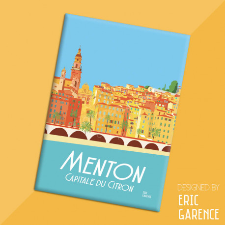 "Magnet, ""Menton, Capitale du citron"", aimant, fridge, gift, business,"